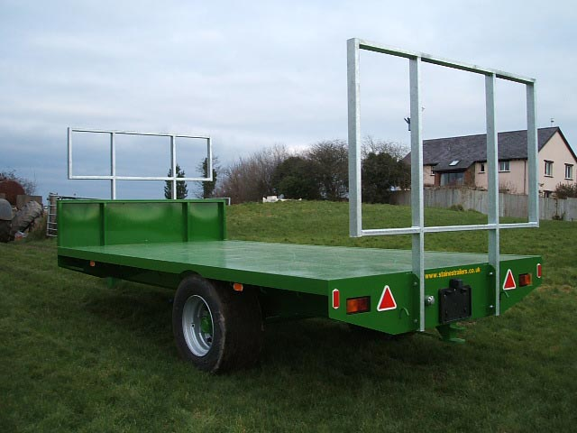 Staines 18 24 Ft Rigid Axle Bale Trailer Fixed Bale